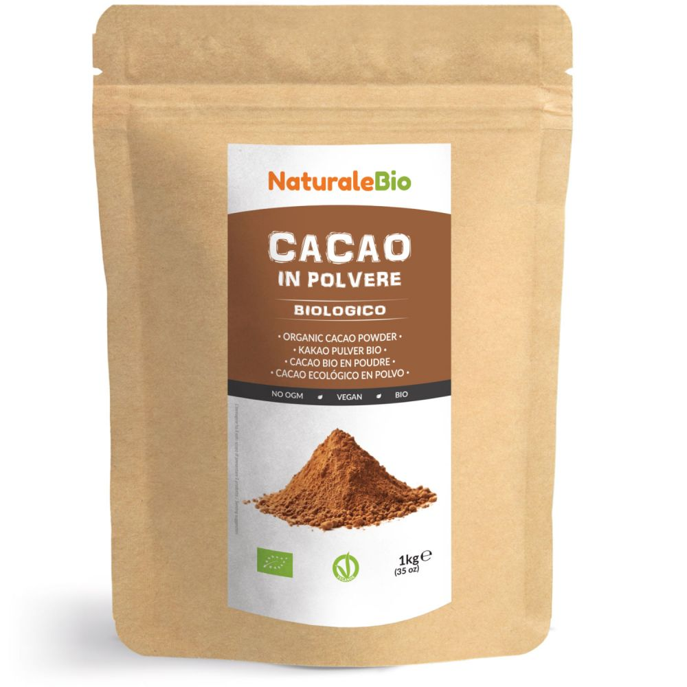 Cacao in polvere biologico 1kg fronte
