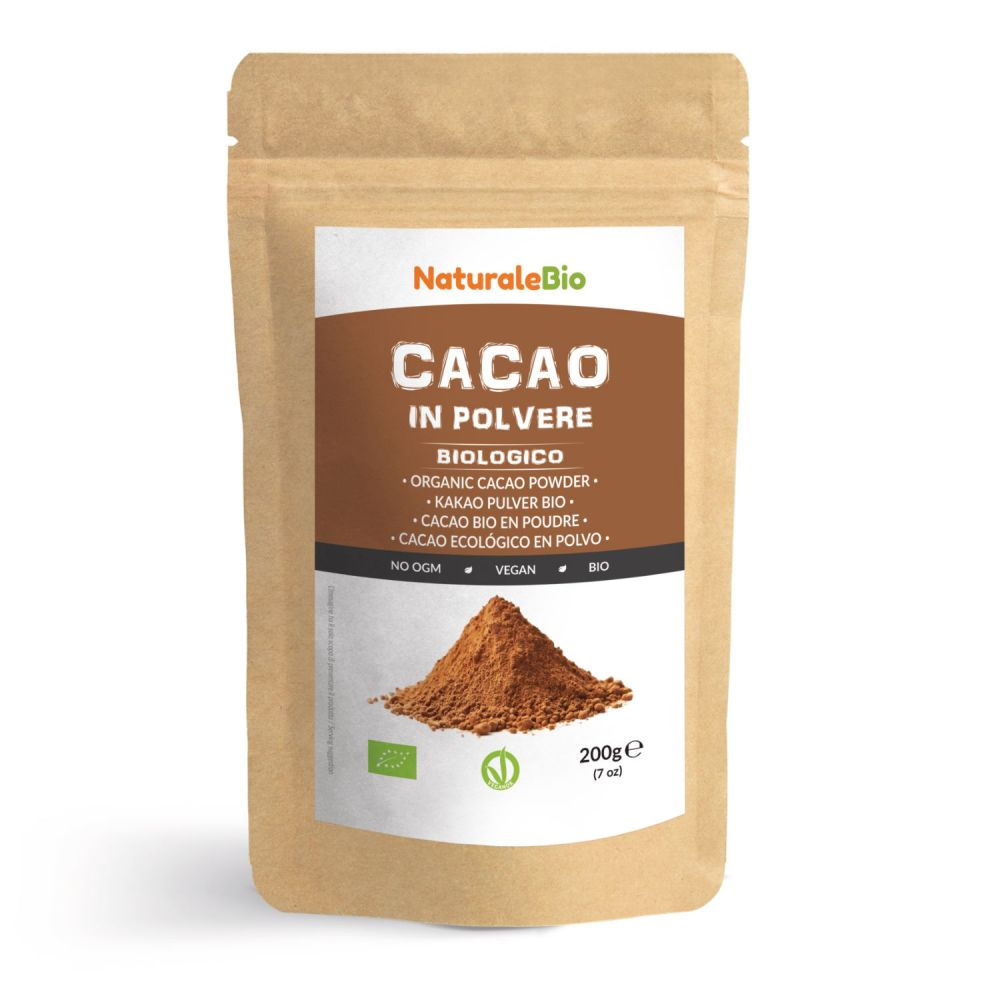 Cacao in polvere biologico 200g fronte