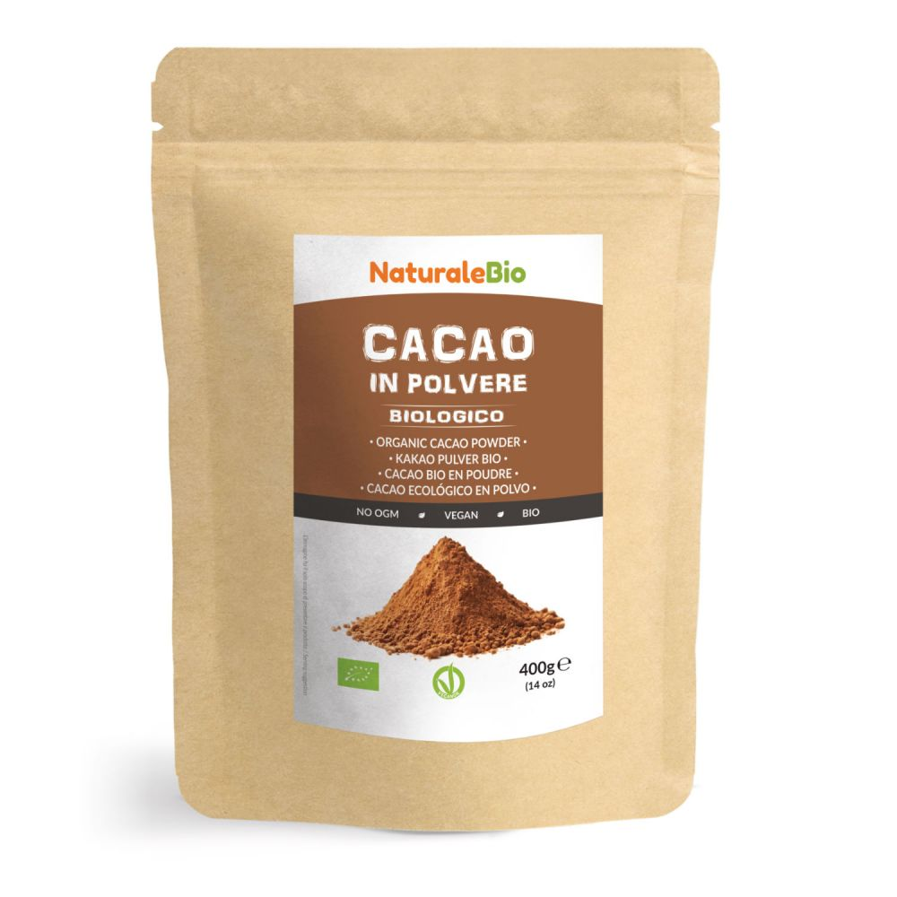 Cacao in polvere biologico 400g fronte