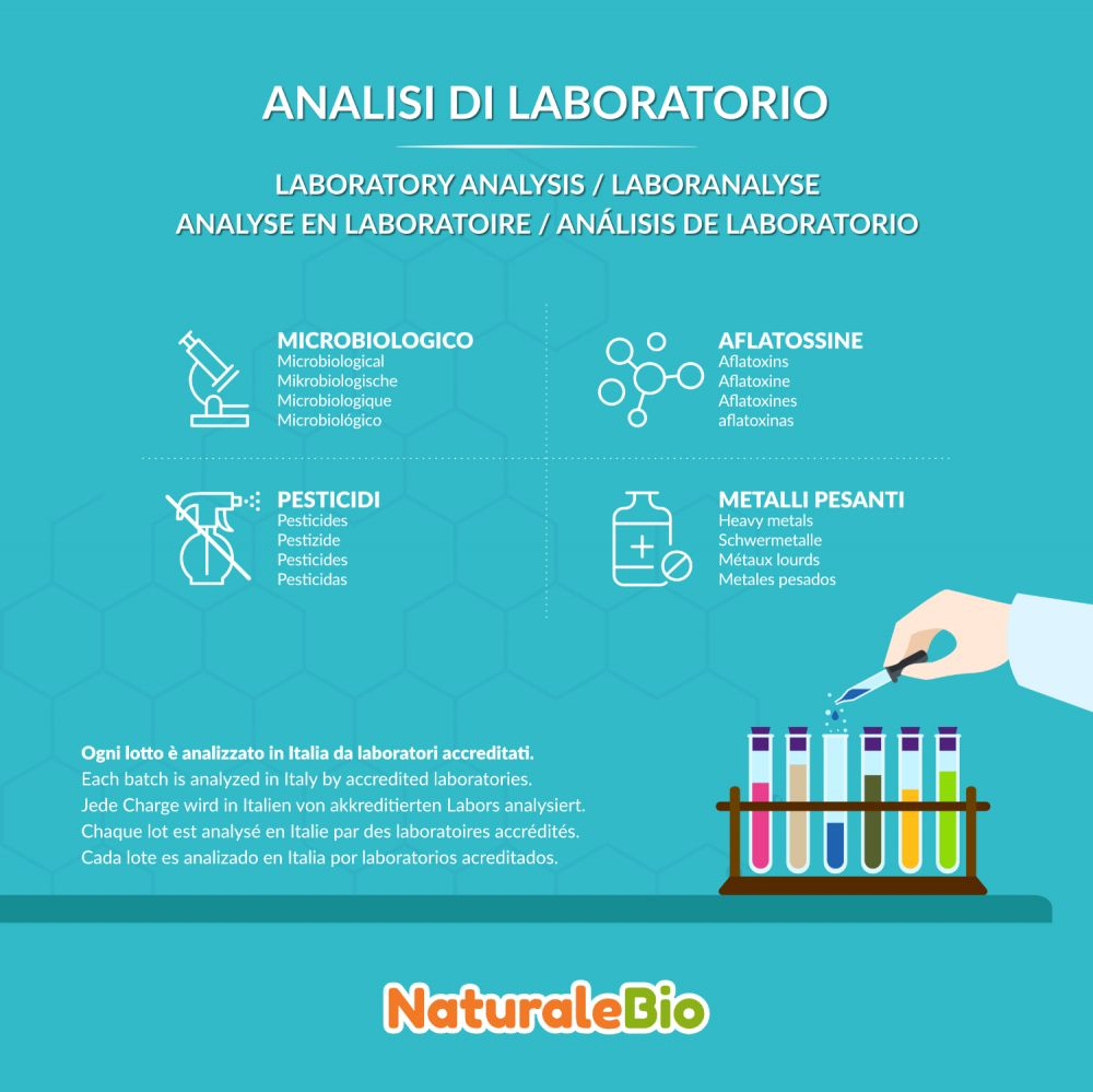 Maca biologica analisi di laboratorio