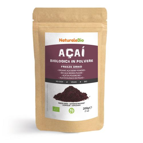 Bacche di Açai Biologiche in Polvere [ Freeze - Dried ]