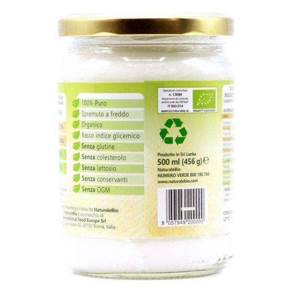 Olio di Cocco - 500ml - Informazioni Nutrizionali
