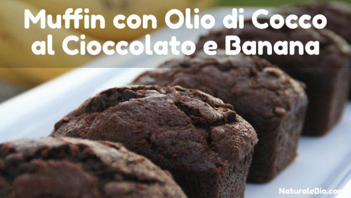 Muffin olio di cocco e banana e cioccolato