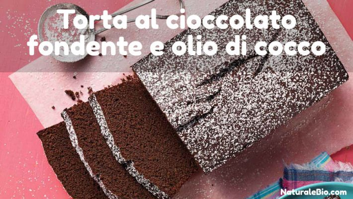 Torta al cioccolato fondente con olio di cocco
