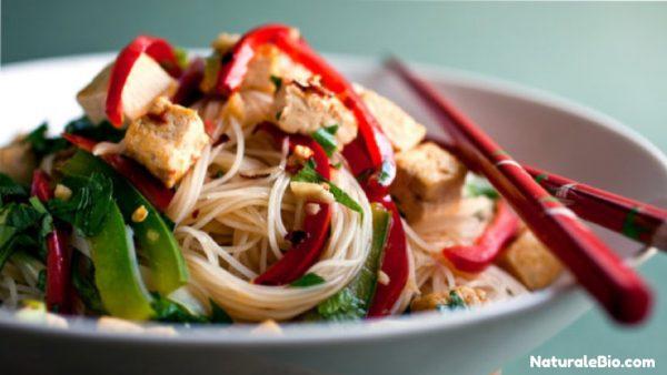spaghetti tofu e olio di cocco