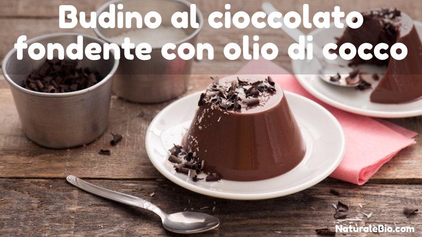 budino al cioccolato fondente con olio di cocco