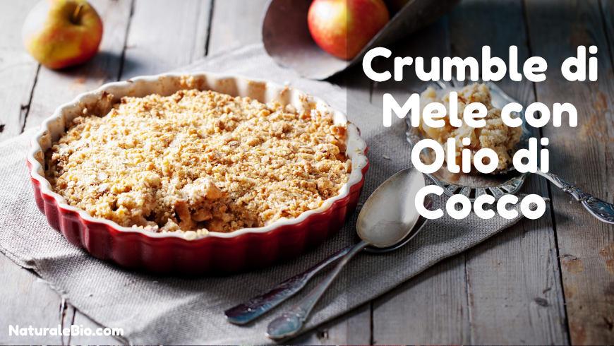 Crumble di mele con olio di cocco
