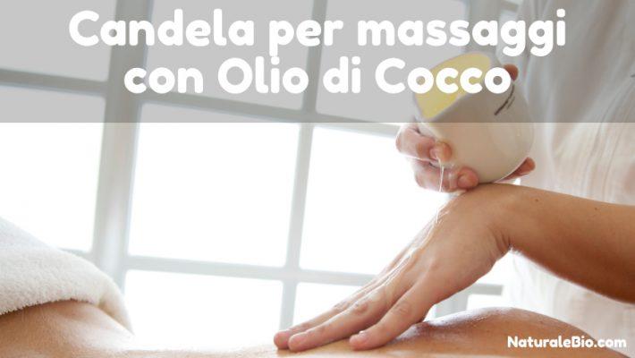 candela per massaggi con olio di cocco