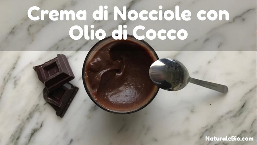 crema di nocciole con olio di cocco