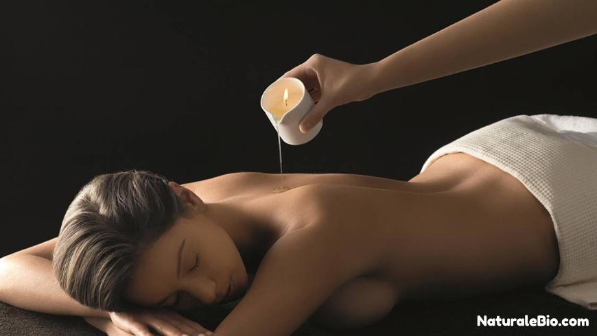 massaggio candela olio di cocco
