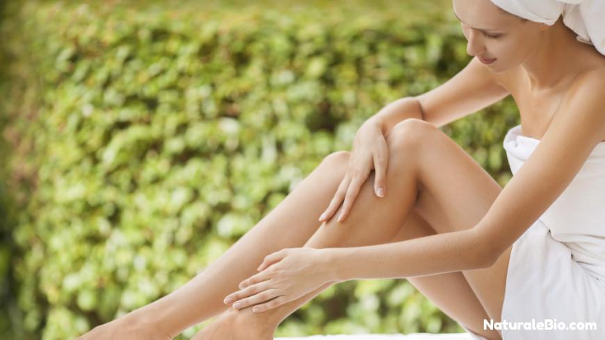 olio di cocco idradante gambe donna
