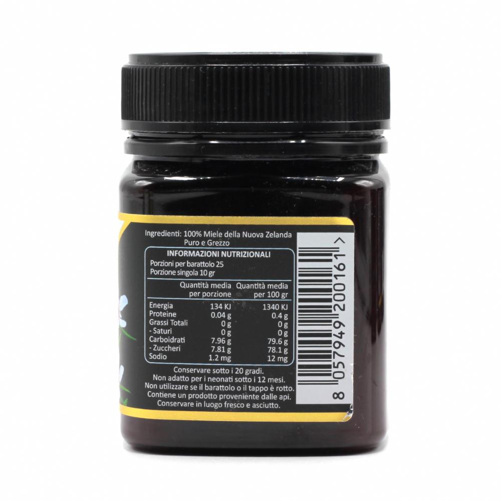 Miele di Manuka 100 MGO (UMF 8+) - Informazioni Nutrizionali