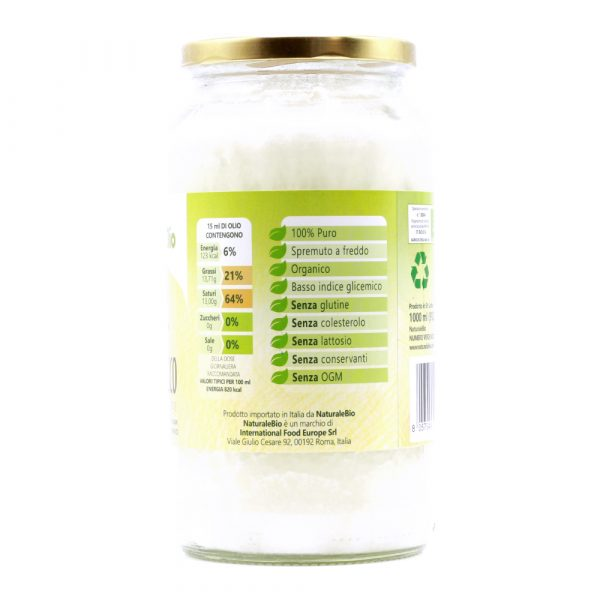Olio di Cocco - 1000ml - Composizione