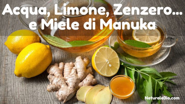 Acqua, limone, zenzero e miele di Manuka