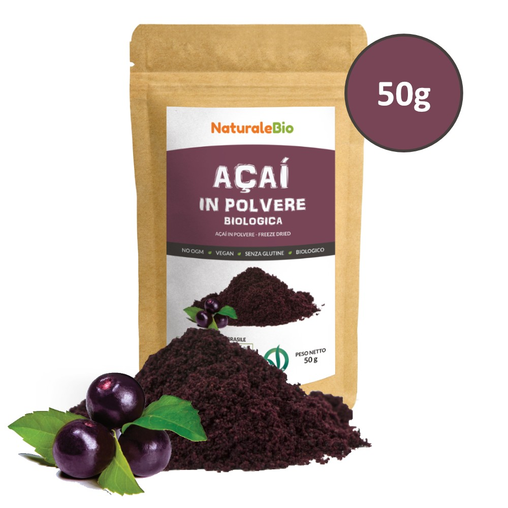 5e7d1920fa Bacche di Açai Biologiche in Polvere [ Freeze - Dried ] 50g
