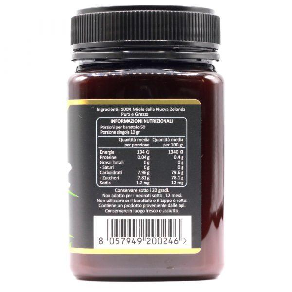 Miele di Manuka 200 MGO (UMF 9+) - Informazioni Nutrizionali