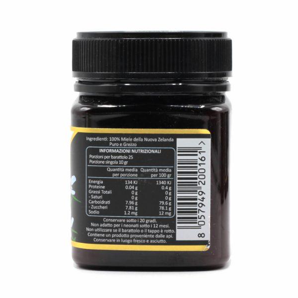 Miele di Manuka 800 MGO (UMF 20+) - Informazioni Nutrizionali