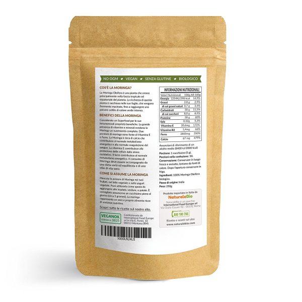 Moringa Oleifera in Polvere - Etichetta