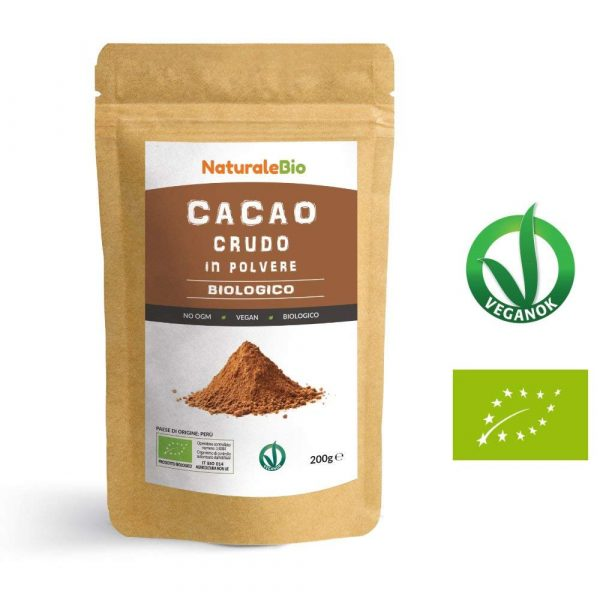 Cacao crudo in polvere biologico