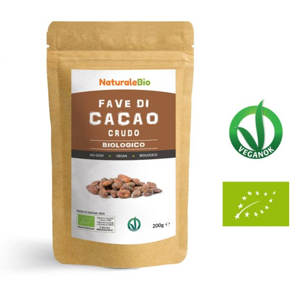 Fave di cacao crudo biologico