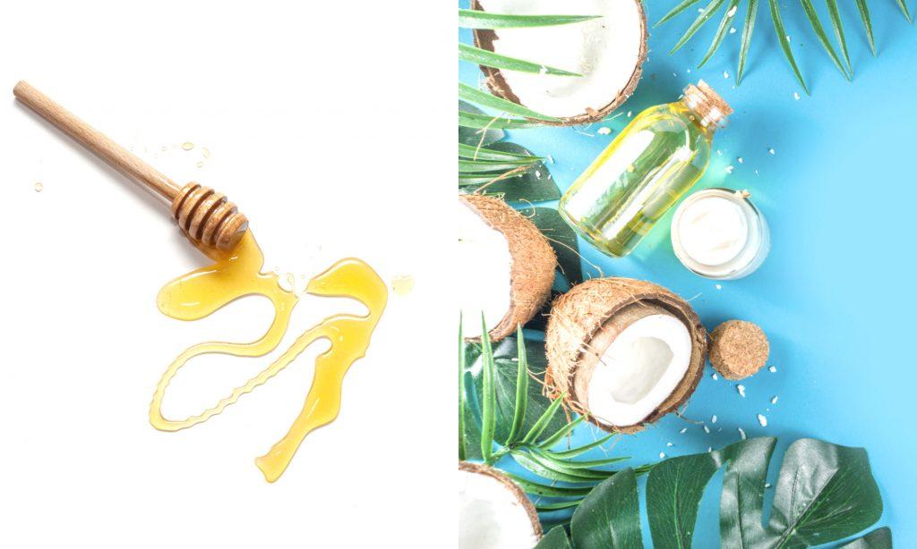 Maschera viso olio di cocco