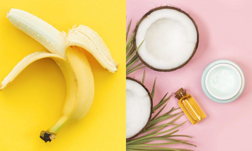 Maschera viso banana cocco