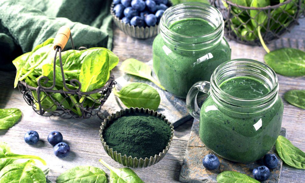 Smoothie verde con Spirulina