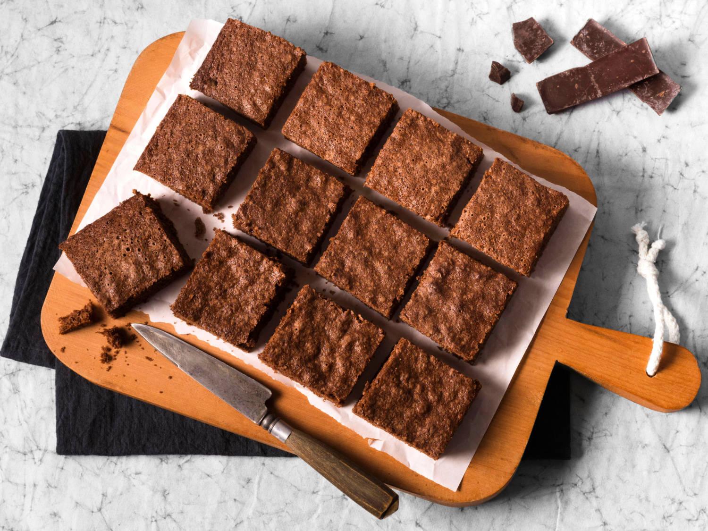 Brownies cioccolato e noci con olio di cocco